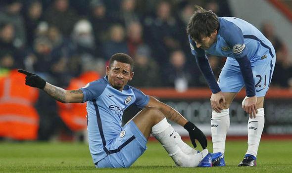 Gabriel Jesus injury at Man City