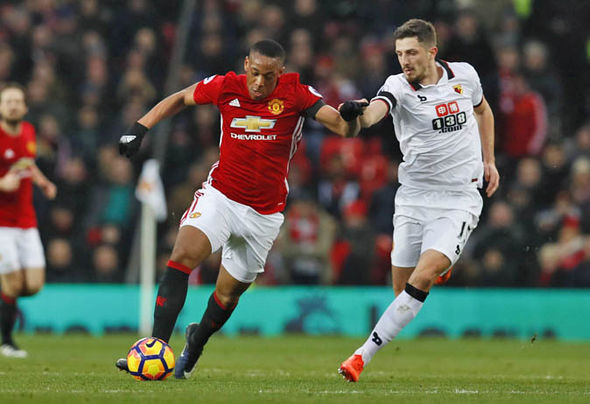 Martial playing against Watford