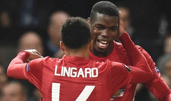 Manchester United Jesse Lingard Paul Pogba