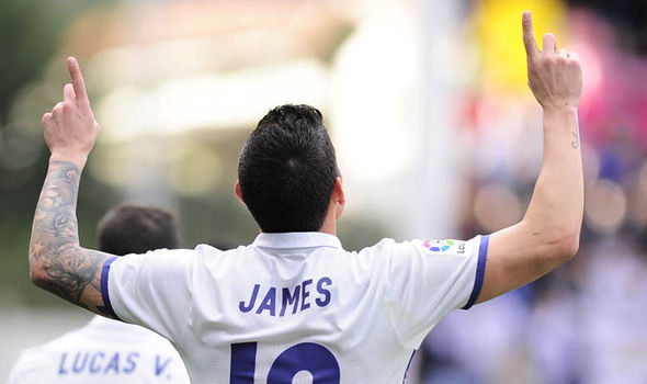 James Rodriguez Real Madrid Manchester United