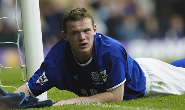 Wayne Rooney Everton Manchester United