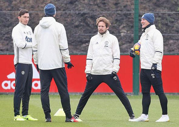 Blind at Man United training