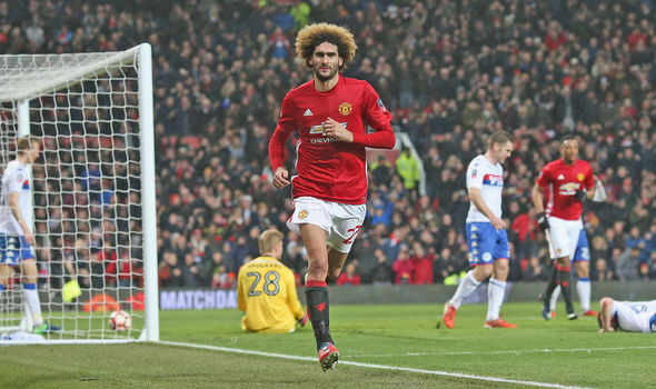 Manchester United star Marouane Fellaini
