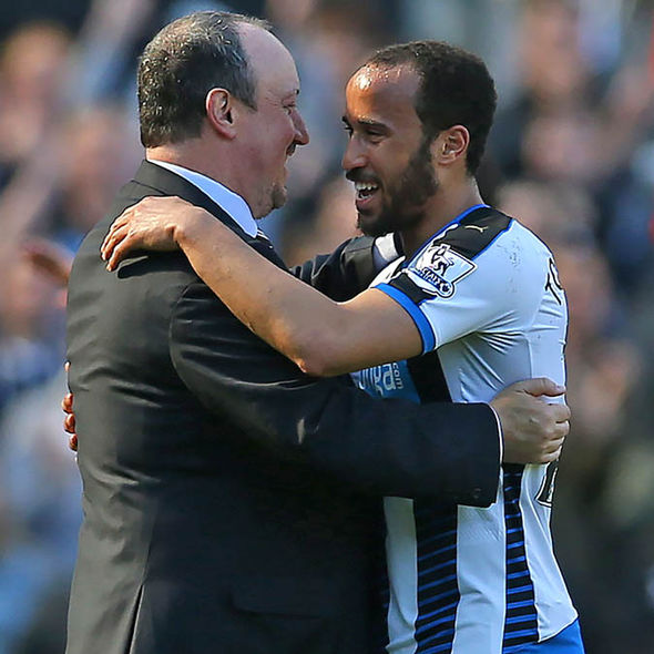 Benitez and Townsend at Newcastle