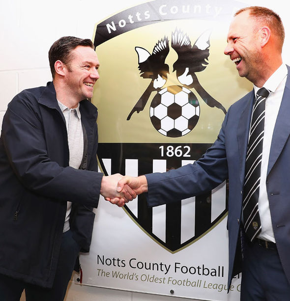 New Notts County boss Kevin Nolan (left)
