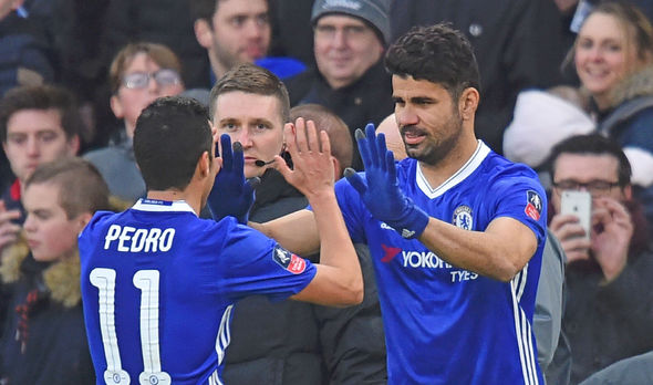 Pedro and Diego Costa