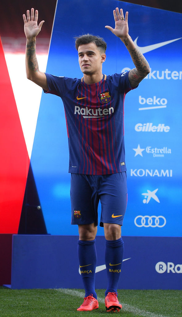 Barcelona confirm Philippe Coutinho will wear number 14 ...