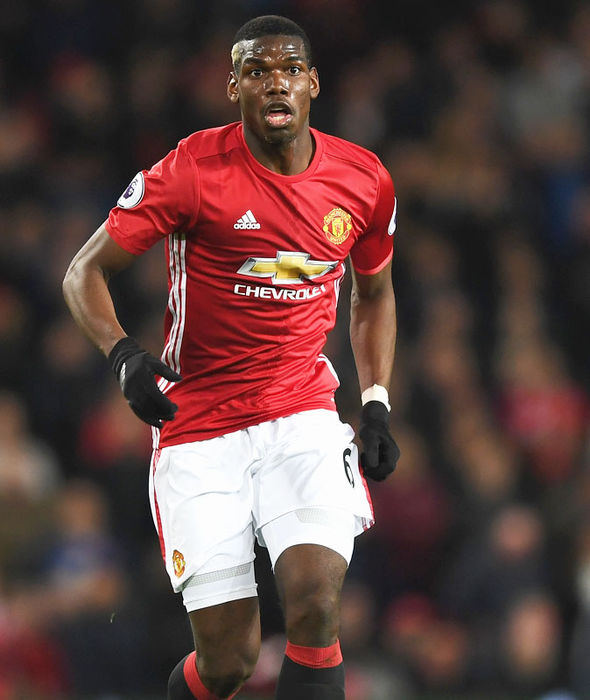Paul Pogba in action for Manchester United against Everton