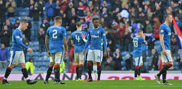 Rangers fell to a 2-1 defeat at Dundee