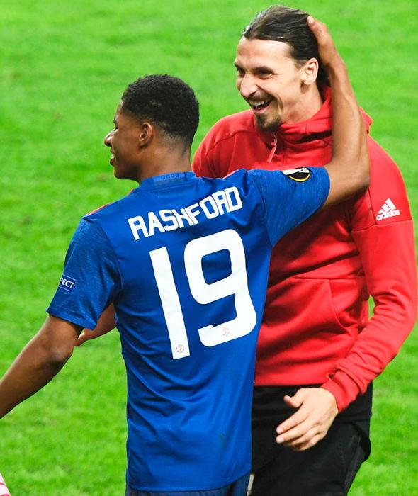 Marcus Rashford celebrates Manchester United's Europa League triumph