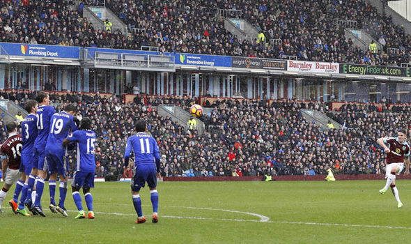 Robbie Brady scores for Burnley