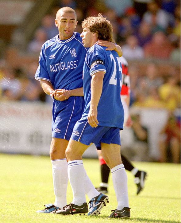 Roberto Di Matteo and Gianfranco Zola
