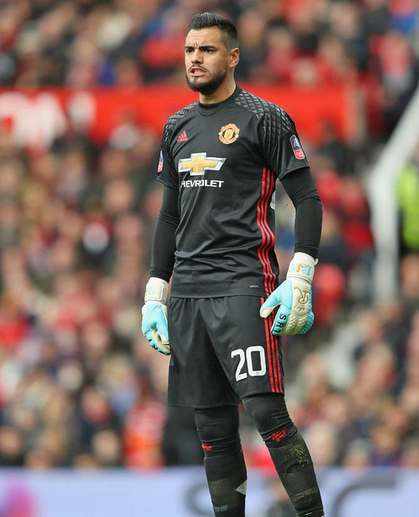 Sergio Romero at Manchester United