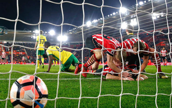 Southampton needed a goal-line scramble to break the deadlock