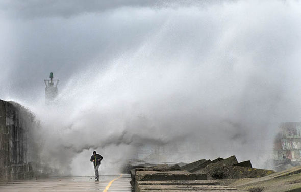 Storm in Spain