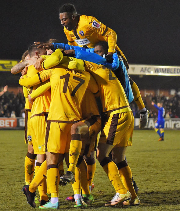 Sutton beat AFC Wimbledon in the last round