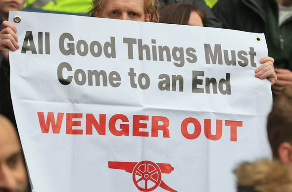 Wenger has come under increasing pressure in recent weeks to stand down