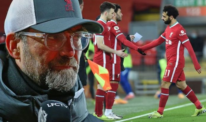 Liverpool boss Jurgen Klopp is playing dangerous game after Mohamed Salah sub