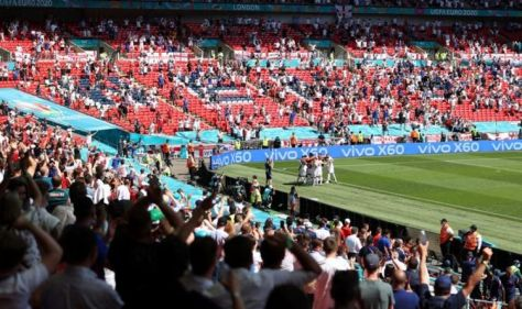 England fan 'seriously injured' and rushed to hospital after falling from Wembley stand