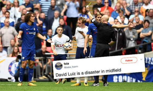 David Luiz: Chelsea ace slammed for midfield display ...