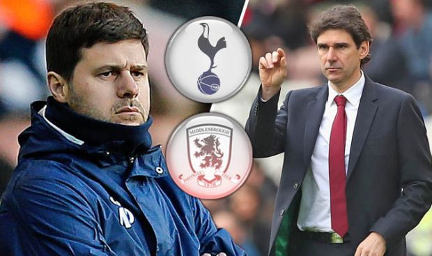 Tottenham v Middlesbrough live blog