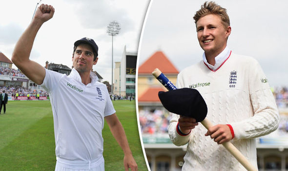 England Test cricket captain Joe Root and Alastair Cook