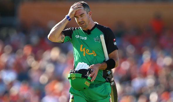 Kevin Pietersen after Melbourne Stars innings