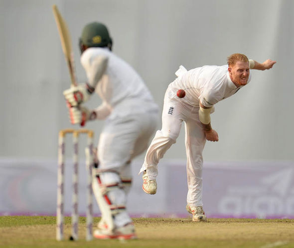 Ben Stokes playing for England