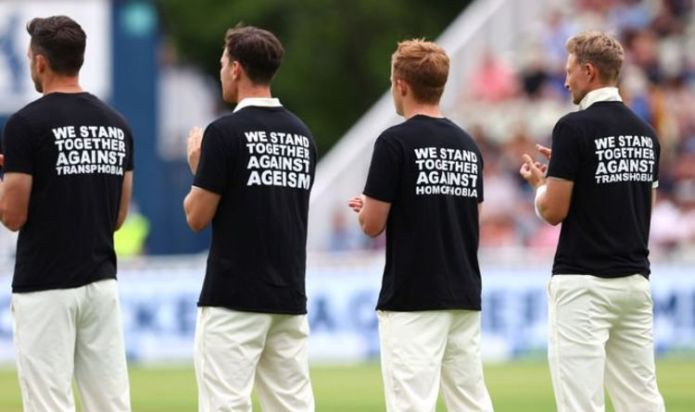 England cricket team slammed for not taking the knee and told to follow Southgate's lead