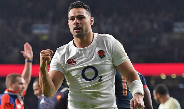 Ben Te'o maintained England's record of scoring a try in every game since Jones took over as head coach
