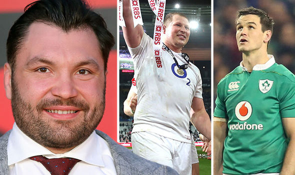England and Ireland Six Nations players and Alex Corbisiero