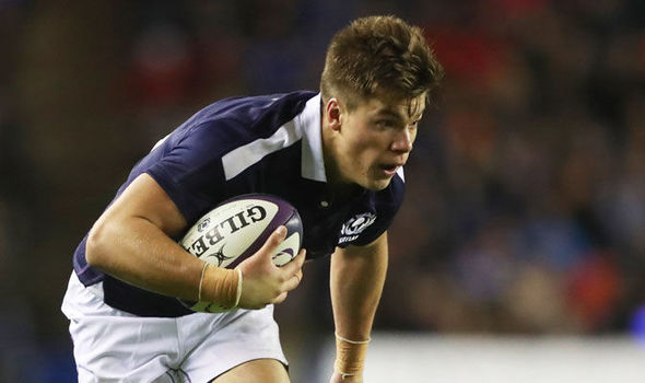 Huw Jones in action for Scotland against Argentina