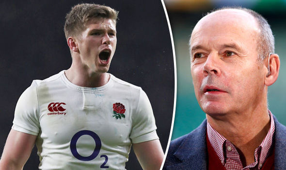 Owen Farrell England rugby player and Clive Woodward