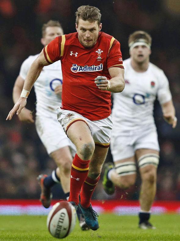 Biggar playing for Wales