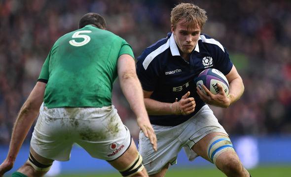 British and Irish Lions hopeful Jonny Gray