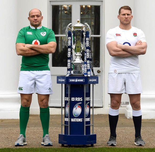 England and Ireland Six Nations rugby captains