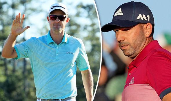 Masters golfers Justin Rose and Sergio Garcia