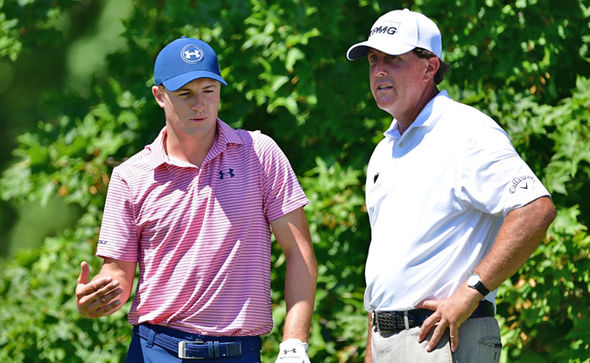 Masters 2017 golfers Jordan Spieth and Phil Mickelson