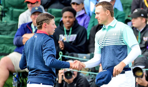 Matt Fitzpatrick and Jordan Spieth at the Masters