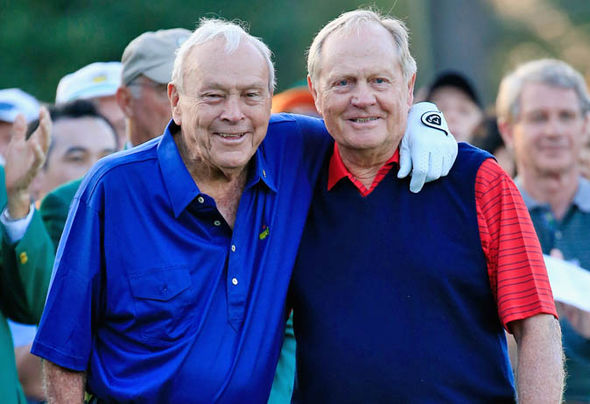 Nicklaus enjoyed a friendly rivalry with Arnold Palmer throughout their careers