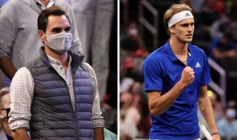 Roger Federer leaves Alexander Zverev confused from the stands at Laver Cup