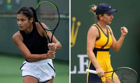 Emma Raducanu branded 'favourite' by Simona Halep ahead of potential Indian Wells clash