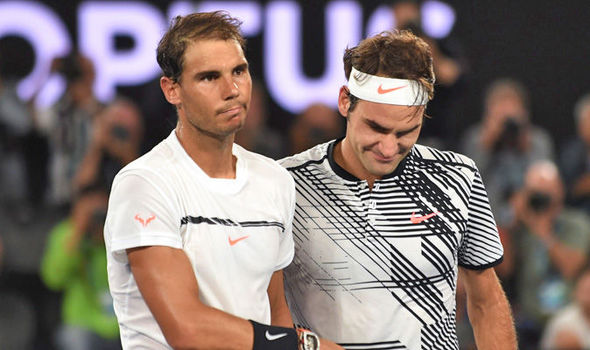 Rafael Nadal and Roger Federer at the Australian Open final
