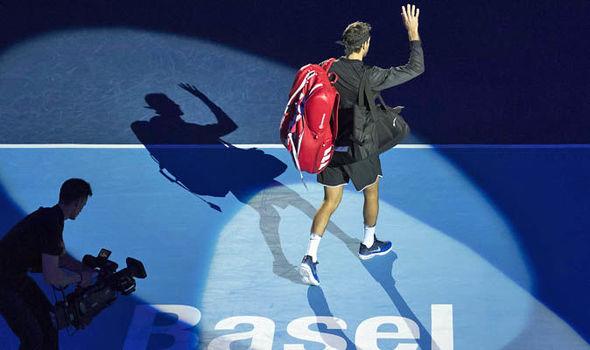 Roger Federer Swiss Indoors final