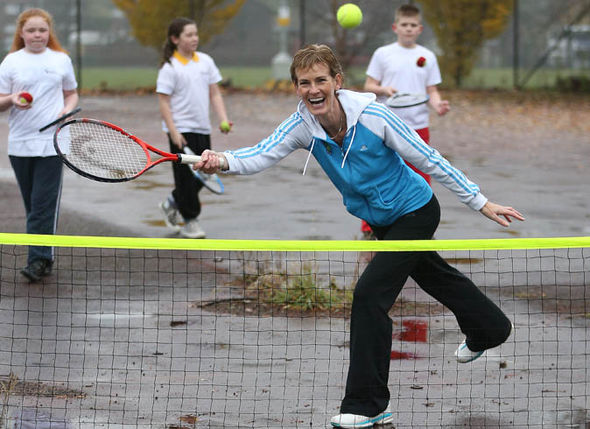 Judy Murray at a school
