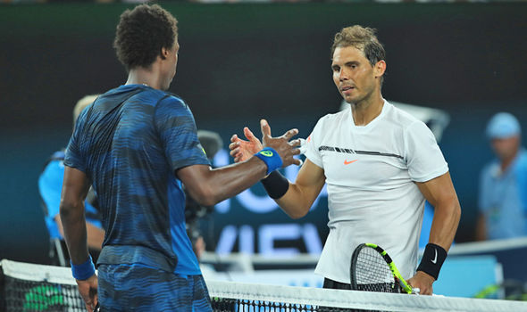 Rafael Nadal and Gael Monfils