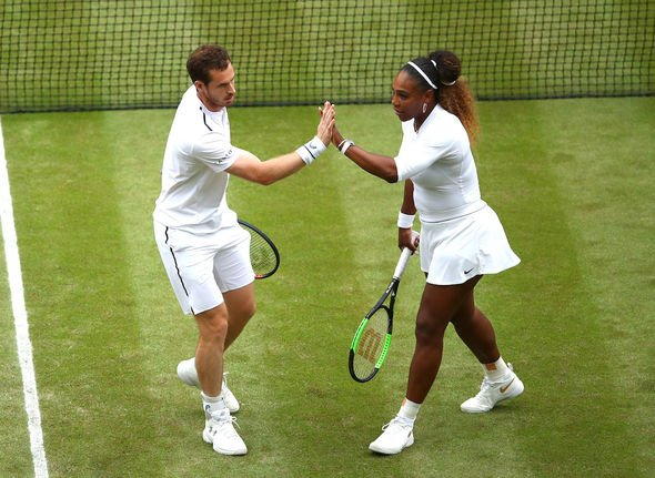 Serena Williams and Andy Murray won the first set