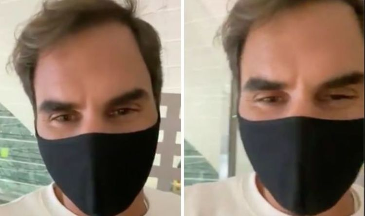 Roger Federer sends message to fans as he boards plane to Doha ahead of injury comeback