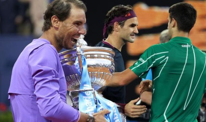 Rafael Nadal has message for Novak Djokovic and Roger Federer after winning Barcelona Open