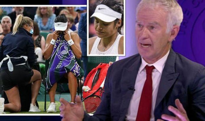 John McEnroe blasted for Emma Raducanu comments after Wimbledon withdrawal